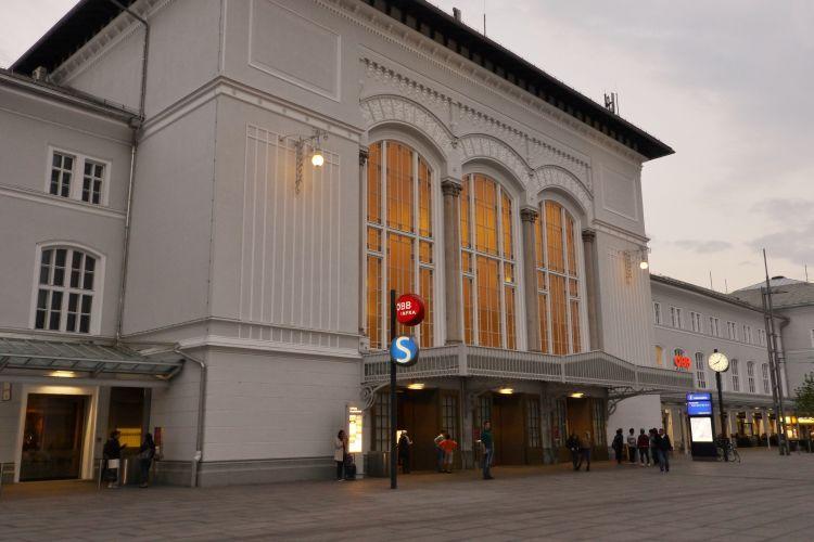 Hauptbahnhof Salzburg, nur ein paar Minuten vom Hotel entfernt
